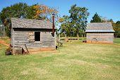 stock photo of jimmy  - Jimmy Carter National Historic Site  farm buildings - JPG