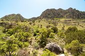 stock photo of stagecoach  - Tejas Canyon rocky cliffs - JPG
