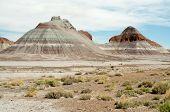 foto of paleozoic  - the teepees painted desert hills - JPG