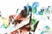 Abstract Colorful Hand Painted Acrylic Background, Creative Abstract Hand Painted Background, Close  poster