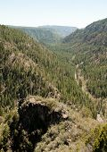 stock photo of paleozoic  - Oak Creek Canyon Scenic View Area - JPG