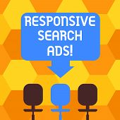 Handwriting Text Writing Responsive Search Ads. Concept Meaning To Increase The Likelihood That Your poster