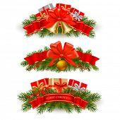 stock photo of polly  - Three christmas banners - JPG