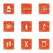 Remediation Icons Set. Grunge Set Of 9 Remediation Icons For Web Isolated On White Background poster