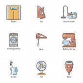 Scavenge Day Icons Set. Cartoon Set Of 9 Scavenge Day Icons For Web Isolated On White Background poster