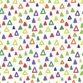 Seamless Hand Drawn Geometric Pattern. Seamless Abstract Doodle Triangle Geometrical Background. Inf poster