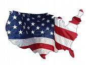 picture of usa flag  - usa cut out and colored with old glory - JPG