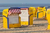 Beach�wicker�chairs Strandkorb�in Northern Germany