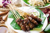 picture of malaysian food  - Satay or sate - JPG