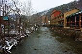 pic of gatlinburg  - A small portion of the river running through downtown Gatlinburg, Tennessee.