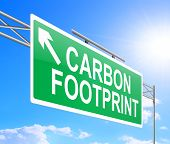 stock photo of carbon-footprint  - Illustration depicting a sign with carbon footprint concept - JPG