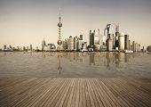 Shanghai Bund Landmark Skyline Urban Buildings Landscape poster