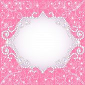 pic of refraction  - illustration of a pink background with pearls for inviting - JPG