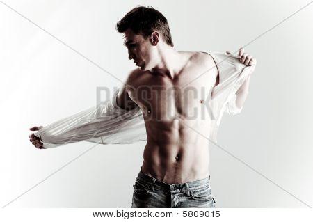 Постер, плакат: Мода выстрел из молодых мужской модели, холст на подрамнике