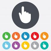 Hand cursor sign icon. Hand pointer symbol.