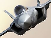 F35-A lightning closeup