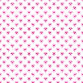Heart shape vector seamless pattern (tiling).