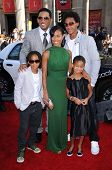 Will Smith with Jada Pinkett Smith and family  at the World Premiere of