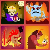 pic of hamlet  - evil Icons in flat style for web and mobile vector - JPG