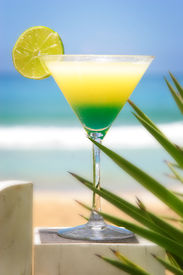 picture of beach party  - wanderful and colouring cocktail in typical caribi ambient - JPG