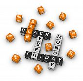 stock photo of monday  - sale black friday and cyber monday - JPG