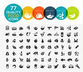 stock photo of dessert plate  - 77 High quality food icons - JPG