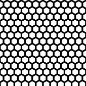 image of honeycomb  - honeycomb seamless pattern in vector black color - JPG