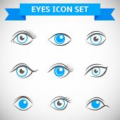 Постер, плакат: Eyes Icons Set