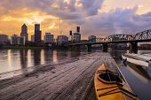 pic of reflection  - Portland Oregon Panorama - JPG