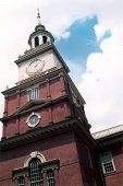 picture of cheesesteak  - Shot of Independence Hall in Philadelphia - JPG