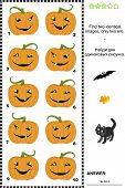 stock photo of riddles  - Halloween visual puzzle or picture riddle - JPG