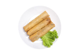 """picture of lumpia  - """"Spring rolls"""" (Dim sum or Loempia, isolated with clipping paths. - JPG"""