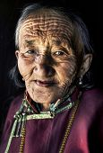 stock photo of mongolian  - Mongolian woman in traditional dress - JPG