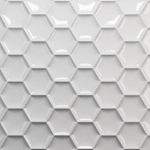 stock photo of honeycomb  - White honeycomb abstract background 3d render - JPG