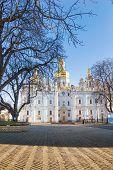 picture of kiev  - View of Kiev Pechersk Lavra or Kyiv Pechersk Lavra Cathedral of the Dormition in Kiev, Ukraine ** Note: Shallow depth of field - JPG