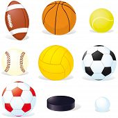foto of olympic-games  - sport balls isoletad on white background  - JPG