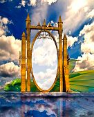 Постер, плакат: Спящий дракон волшебное зеркало