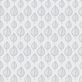 image of fall decorations  - Seamless Autumn pattern on a white background with abstract grey leaf - JPG