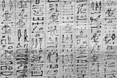 stock photo of horus  - Detail of ancient Book of the Dead (1070 BC) Thebes - Egypt