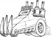 image of armored car  - Armored Car Vehicle Sketch Vector Illustration Art - JPG
