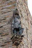image of william wallace  - Detail of William Wallace statue at The National Wallace Monument in Stirling Scotland - JPG