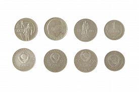 pic of lenin  - money soviet coins roubles lenin isolated lenin - JPG