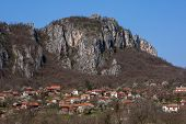 picture of serbia  - Panorama of Vlasi Village and rock formation - JPG