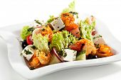 stock photo of lenten  - Salad with Seafood - JPG