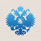 picture of eagles  - Russian blue coat of arms double - JPG