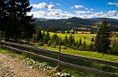 stock photo of serbia  - Mountain road and landscape at autumn sunny day - JPG