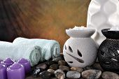 picture of ear candle  - spa items ready for client to relax - JPG
