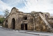 pic of gate  - Famous historical building landmark of Famagusta Gate in the city of Nicosia in Cyprus - JPG