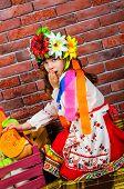 picture of national costume  - Ukrainian national costume - JPG