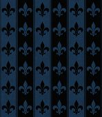picture of fleur de lis  - Black and Navy Blue Fleur De Lis Textured Fabric Background that is seamless and repeats - JPG